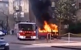 Požár vozu na Ohradě, zásah hasičů trval pouze minutu!