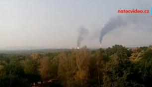 VIDEO TÝDNE: Reportér Radek Očenášek natočil požár v chemičce Unipetrol!